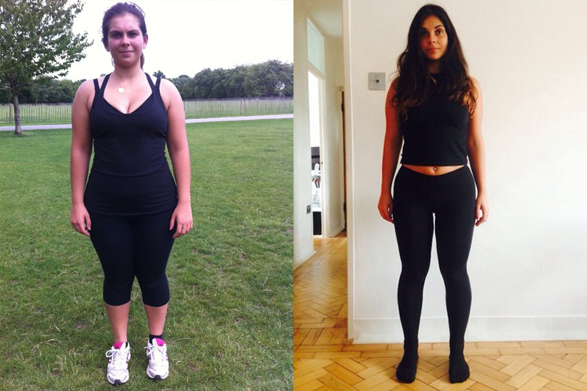 rosie before after personal training in london